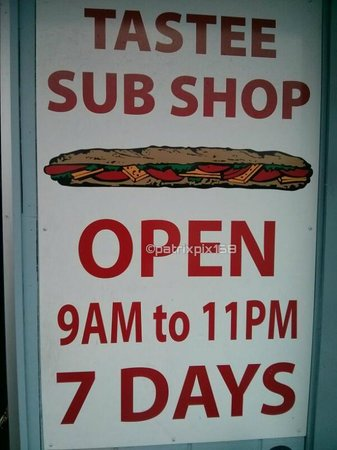 Tastee Sub Shop: Hours