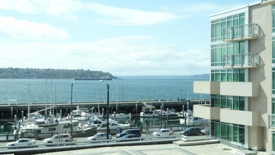 Seattle Marriott Waterfront: View from room on sunny day
