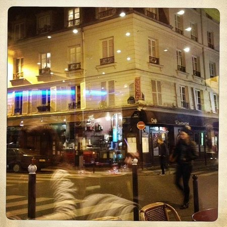 Hotel des Grandes Ecoles: view from Italian restaurant nearby