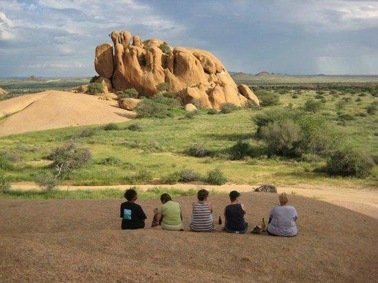 Spitzkoppe Campsites: Team View Rocks