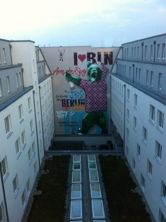 Tryp Berlin Mitte: Nice murales in central main yard