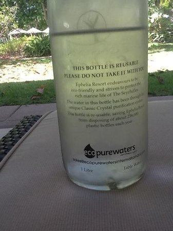 Constance Ephelia: complimentary water