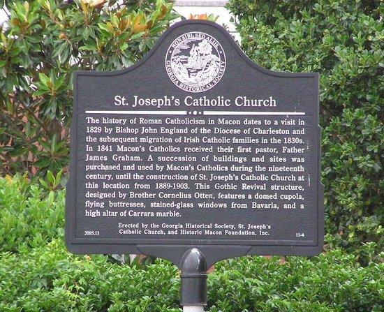 St. Joseph's Catholic Church: History of the church