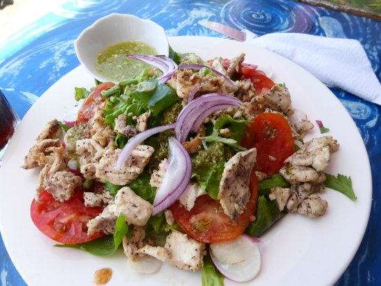 Mero, Dominica: Fresh fish salad