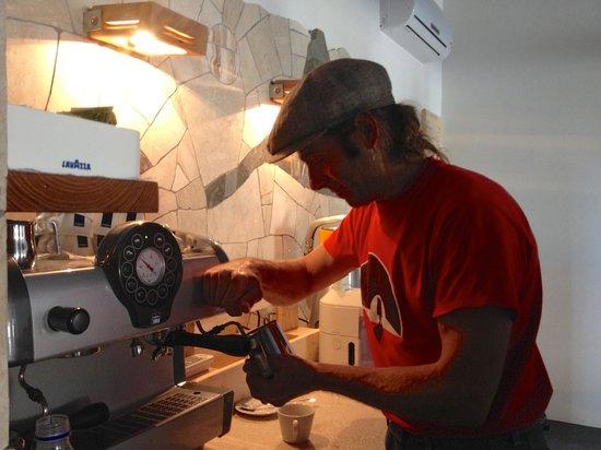 YMCA San Vito Climbing House: making the caffe
