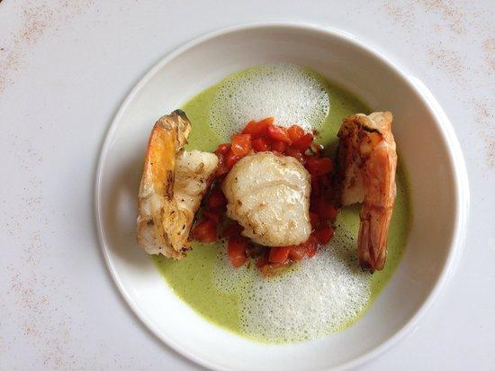 Abacus Restaurant, Garden & Bar : Scallop and shrimp.