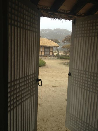 Rakkojae Hahoe: Morning view from our table.