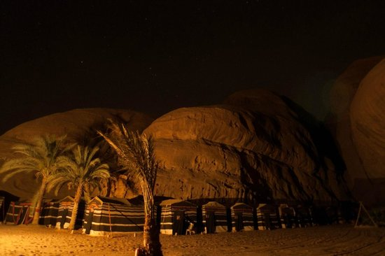 Captain's Desert Camp: A view at night