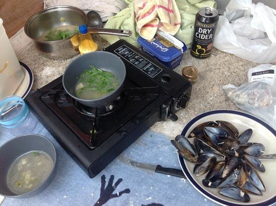 Kilfinan View Bed & Breakfast: cooking in ardishaig