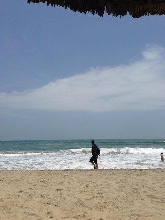 Cua Dai beach in March, blue skies, cool breeze