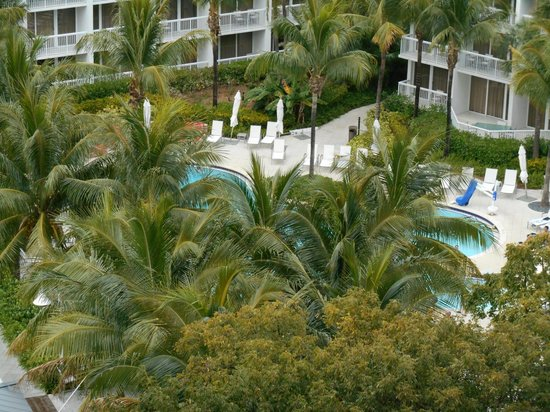 Hilton Fort Lauderdale Marina : View of Pool Area from Balcony