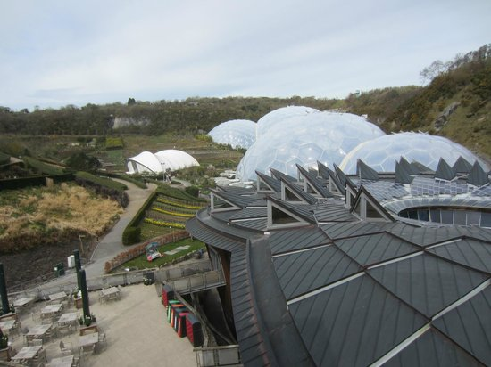 Eden Project: overview from top of lift