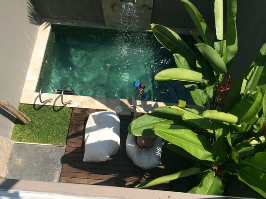 Uppala Villa Seminyak: The pool view from our room