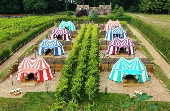 Glamping in Leeds castle on Little Big