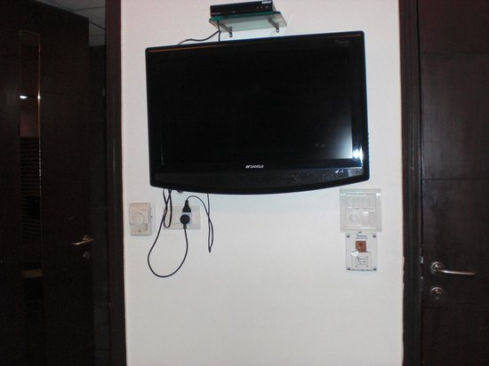 Hotel Yug Villa: tv and switches opposite the bed