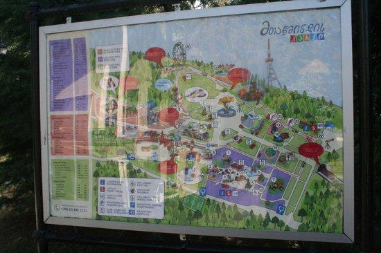 Mtatsminda Amusement Park: Park plan