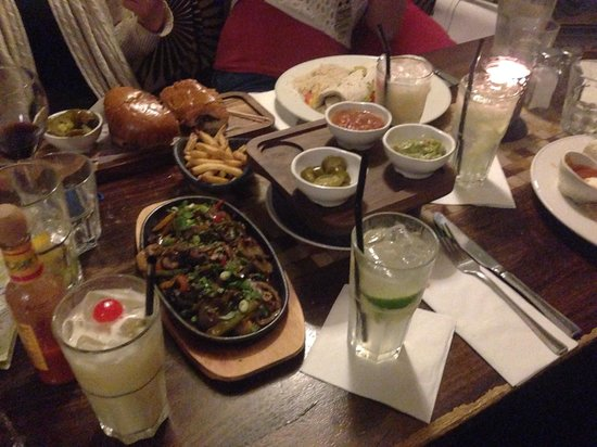 Las Iguanas - Cardiff: Our table...