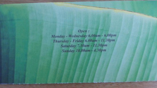Opening hours - Picture of Kai\'s Kitchen, Royal Tunbridge Wells ...