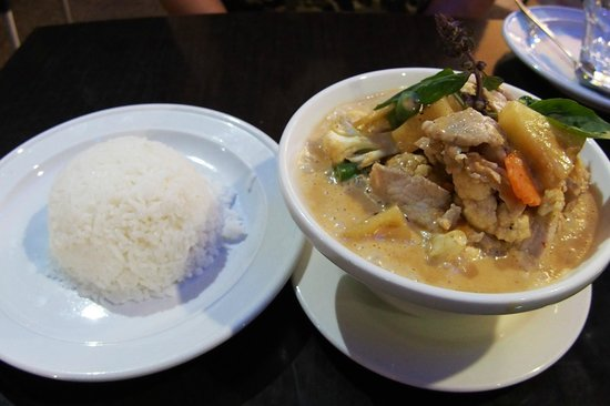Pork Pineapple Curry With Rice Picture Of Thai Lotus