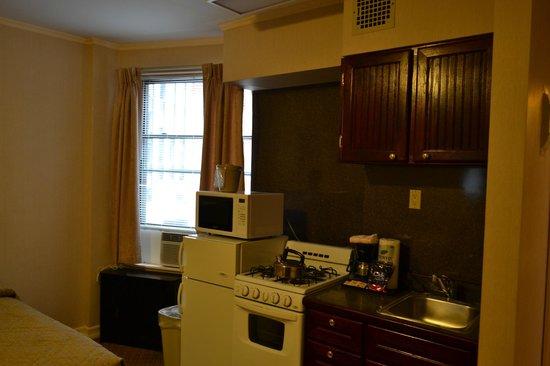 Radio City Apartments Kitchenette And Window