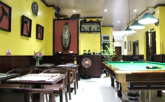 Murray Guesthouse : Guest lounge with pool table