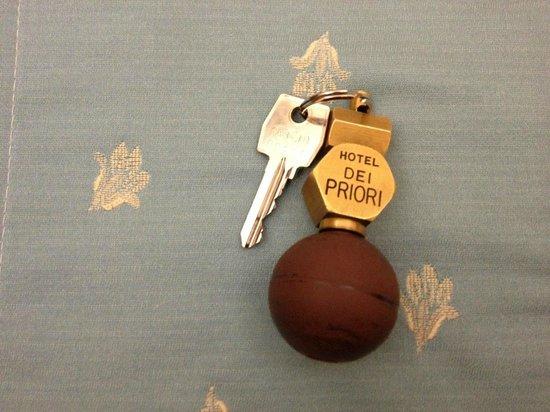 Hotel Dei Priori: お部屋の鍵