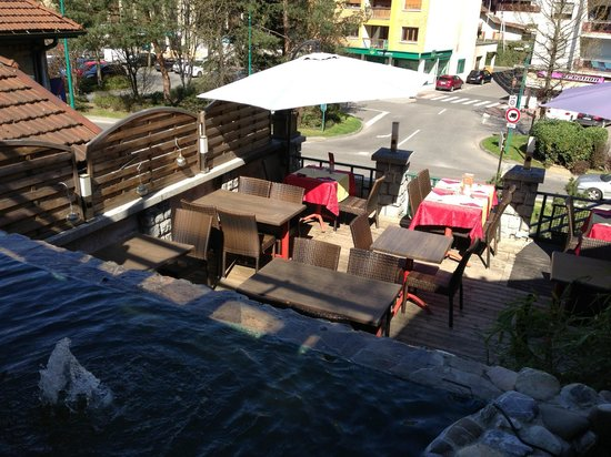 RESTAURANT LE VIRTUOZ : Terrasse du bas