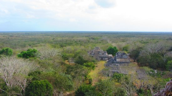 Ek Balam Mayan Ruins: View from El Castillo