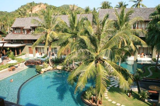 Mai Samui Resort & Spa: Blick vom Balkon zur Rezeption