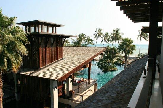 Mai Samui Resort & Spa : Blick vom Balkon Richtung Meer
