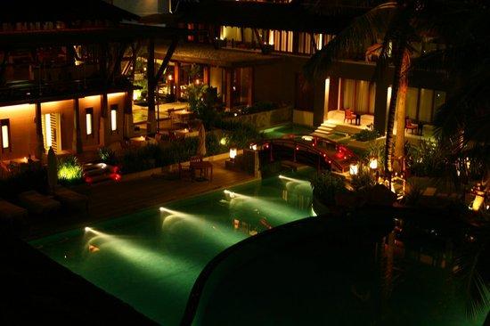 Mai Samui Resort & Spa: Blick vom Balkon bei Nacht