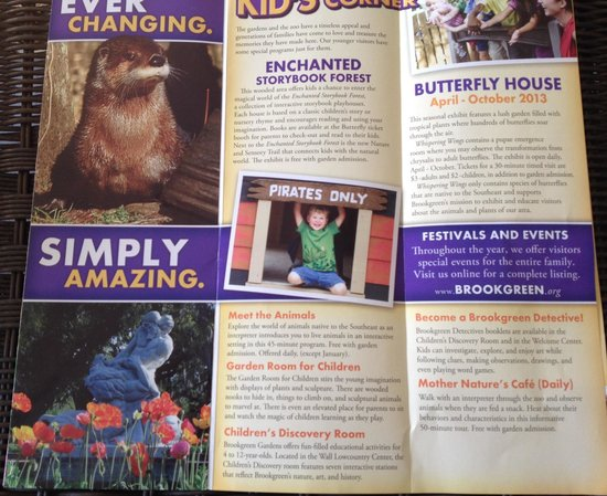 Brookgreen Gardens: Part of the flyer - some children's stuff
