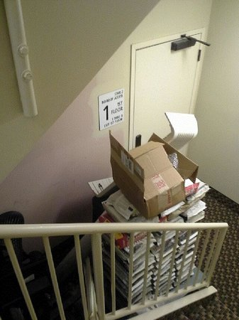 Hampton Inn & Suites South Bend: Stairwell landing