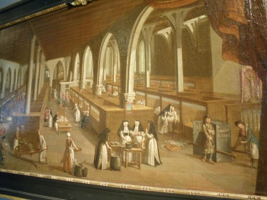 Sint-Janshospitaal : Painting of how inside the hospital would have looked