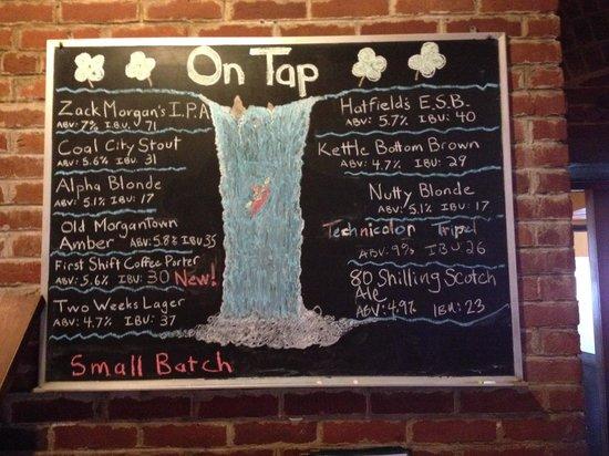 Morgantown Brewing Company: Beer List (April 2014)