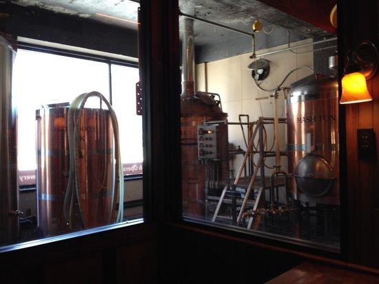 Morgantown Brewing Company: Brewing area