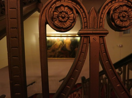 Milwaukee Athletic Club: Ornate staircase detail from the 1917 building