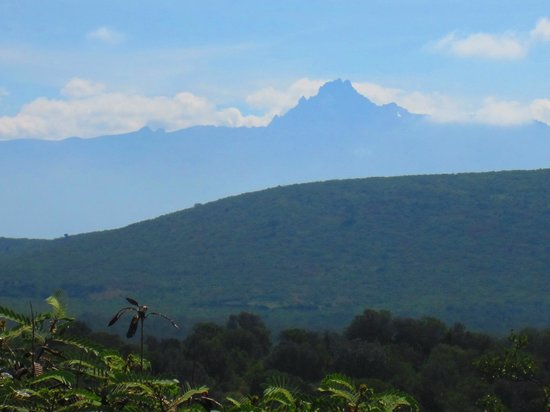 Sandai Homestay & Cottages: View of Mt Kenya from our cottage