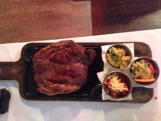 La Cabrera Norte : Disappointing steak. Tough meat.