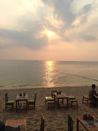 Cassia Cottage: Sunset over the jellyfish net