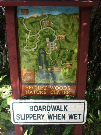 Secret Woods Nature Center: mapa do parque