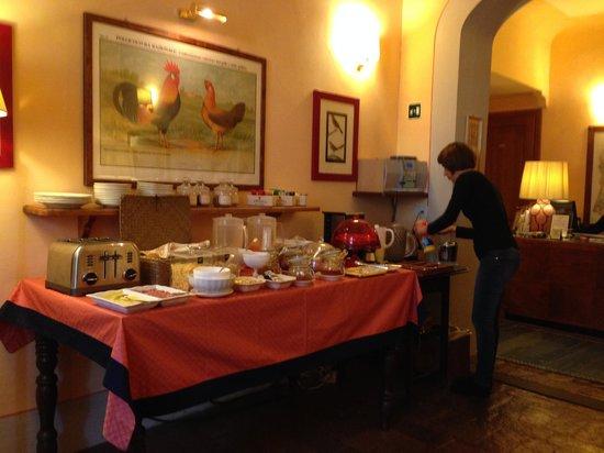 Antica Dimora Firenze: The Breakfast spread