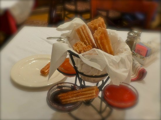 Columbia Restaurant: Churros with sauces to share for dessert