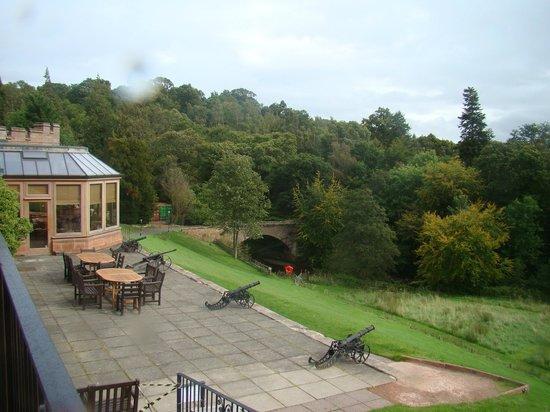 Dalhousie Castle: Вид с веранды для завтрака