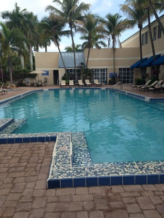 DoubleTree by Hilton Hotel Deerfield Beach - Boca Raton : The pool on a cloudy day