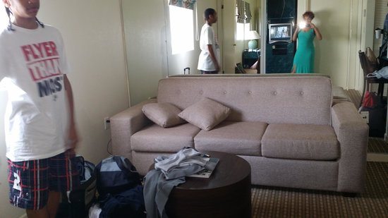 Crystal Beach Suites Hotel: Living room area