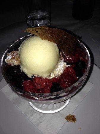 Lavo Restaurant: Wild berry panna cotta