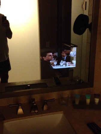 Caesars Atlantic City Tv In The Bathroom Mirror