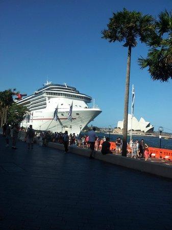 Opera Australia: Navio aguardando a virada do ano.