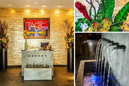 The Entrance Fountain of Taste Restaurant & Lounge